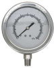 Compound Gauge,Filled,2In,Vac - 30Psi,SS -- 4CFF5
