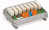 Relay module; Relay, pre-soldered; each 1 changeover contact (1 u); with 8 relays; with universal mounting carrier -- 287-814