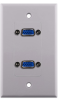 Construct Pro™ Dual VGA Wall Plate-Pass Through (White) -- CON3081W