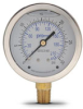0-30 psi Liquid filled Pressure Gauge with 2.5 inch mechanical dial -- G25-SL30-4LB
