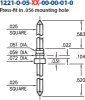 Double Tail Header Pin -- 1221-0-05-01-00-00-01-0 - Image