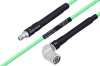 Temperature Conditioned SMA Female to TNC Male Right Angle Low Loss Cable 36 Inch Length Using PE-P142LL Coax -- PE3M0140-36 -Image