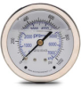 0-1000 psi Liquid filled Pressure Gauge with 2.5 inch mechanical dial -- G25-SL1000-4CB - Image