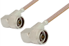 N Male Right Angle to N Male Right Angle Cable 24 Inch Length Using RG400 Coax, RoHS -- PE3412LF-24 -Image