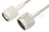 N Male to TNC Male Cable 48 Inch Length Using RG316-DS Coax -- PE34266-48 -Image
