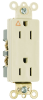 Pass & Seymour® -- Heavy-Duty Decorator Spec Grade Receptacle - IG26262W - Image