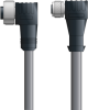 LAPP UNITRONIC® Devicenet™ Thin Extension Cordset - 5 positions female 7/8 inch 90° to 5 positions female M12 90° - Continuous Flex - Gray PVC - 1m -- OLFDN4110069F01 -Image