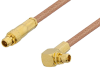 MMCX Plug to MMCX Plug Right Angle Cable 48 Inch Length Using RG178 Coax, RoHS -- PE34883LF-48 -Image