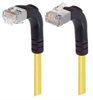 Category 5E Shielded Right Angle Patch Cable, Down/Right Angle Up, Yellow 25.0 ft -- TRD815SRA4Y-25 -Image