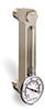 "Aluminum Liquid Level Gage with Dial Thermometer, 5"" Centerline, 1/2"