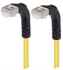 Shielded Category 6 Right Angle Patch Cable, Right Angle Down/Right Angle Down, Yellow, 10.0 ft -- TRD695SRA3Y-10 -Image