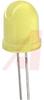 LED; Yellow;350mcd;0.394In.;150mA;2V;60deg;595nm;Dome;5V;-40degC;260de -- 70127663