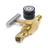 Block & bleed valve - male Quick-test inlet x female Quick-test outlet, brass -- QTHA-BLB0-HC