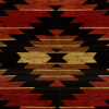 Aztec Blanket Chenille Fabric -- R-Tahoe