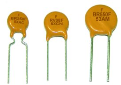 An assortment of resettable PTC fuses