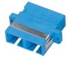 Fiber Optic Coupling, SC-SC, Rectangular Mounting, Single-Mode, Duplex, Ceramic Sleeve, Plastic Flange -- FOT120