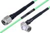 Temperature Conditioned TNC Male to TNC Male Right Angle Low Loss Cable 200 cm Length Using PE-P160LL Coax -- PE3M0206-200CM -Image