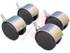 Caster Set; Rack; 2.75 in.; 2.37 in.; Nylon (Wheel), Zinc (Axles and Hoods) -- 70166664