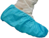 Epic Blue Large Disposable Cleanroom Shoe Cover - ISO Class 5 Rating - Polyethylene/Polypropylene Upper - 537782-L -- 537782-L - Image