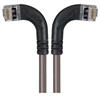 Shielded Category 6 Right Angle Patch Cable, Right Angle Left/Right Angle Right, Gray, 15.0 ft -- TRD695SRA8GRY-15 -Image