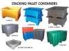 Stacking Pallet Containers -- HDWP-11 - Image