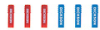 P246 - Dickson P246 Replacement Chart Recorder Pens 3 Red and 3 Blue -- GO-80009-60