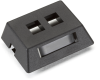 2-Port Black Modular Furniture Wallplate -- WPT459-MF - Image