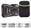 Pentax WG-1 Gray GPS 14MP Digital Camera and Pentax 85219 A -- 16896 Bundle