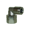 Brass with Nickel Plated Body & Release Ring Swivel Female Elbow Inch & Metric -- View Larger Image