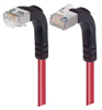 Category 5E Shielded Right Angle Patch Cable, Down/Right Angle Up, Red 7.0 ft -- TRD815SRA4RD-7 -Image