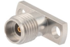 2.92mm Female (Jack) Connector Field Replaceable 2 Hole Flange (Panel Mount) 0.009 inch Pin, .400 inch Hole Spacing with Metal Contact Ring