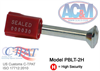 High-Security Steel Bolt Lock, Plastic Covered Head -- PBLT-2H