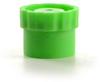 Fisnar QuantX™ 8001038 Syringe Barrel Flat-Base Tip Cap Green -- 8001038