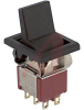 Switch, SM. LEV. HNDL. W/BEZEL, DPDT, ON-NONE-ON, 5A@120VAC OR 28VDC; 2A@250VAC -- 70128188 - Image
