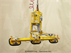 Air Powered Three Pad Vacuum Lifter with Powered Tilt -- AT75M3-61FPL - Image