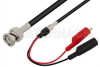 BNC Male to Alligator Clip Cable 48 Inch Length Using 53 Ohm RG55 Coax -- PE34536-48 -Image
