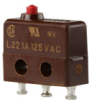 MICRO SWITCH SX Series Subminiature Basic Switch, Single Pole Double Throw (SPDT), 125 Vac, 1 A, Pin Plunger Actuator, Quick Connect Termination -- 12SX3-T -Image