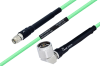 Temperature Conditioned SMA Male to N Male Right Angle Low Loss Cable 18 Inch Length Using PE-P142LL Coax -- PE3M0134-18 -Image