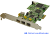 4-Port FireWire 1394a/1394b PCI Express (x1) Card -- PEFW331
