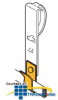 Erico Clip for Romex or Non-Metallic Cable to Deck (Pkg... -- RMXDH2