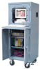 Mobile Computer Cabinet with Welded Shelf -- 25-CC-242-CA - Image