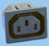 IEC 60320 Sheet F Snap-in Shuttered Power Outlet -- 83011360