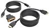 HDMI/DVI/USB KVM Cable Kit, 6 ft. -- P782-006-DH -- View Larger Image