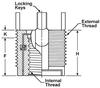 Floating Keylocking Threaded Inserts -- Heavy Duty - Inch
