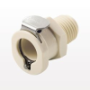 PLC12 Series Coupling Body, Shutoff Polypropylene In-Line Pipe Thread -- PLCD1000412 -Image
