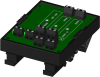 2-channel backpanel with DIN rail mounting option -- 8BP02-2 -Image