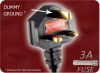 1.83m 0.75mm/2 H03VVH2-F BLACK ICC BS 1363 UK3 TO EURO RECEPTACLE 2 -- 8701.072