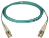 10Gb Duplex Multimode 50/125 OM3 LSZH Fiber Patch Cable (LC/LC) - Aqua, 1M (3-ft.) -- N820-01M - Image