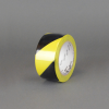 3M 766 Hazard Warning Tape Black-Yellow 2 in x 36 yd Roll -- 766 2IN X 36YDS -Image