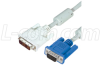 DVI-A Male DVI Cable / HD15 Male w/ Ferrites, 10.0 ft -- CTLDVI-HD-MM-10 - Image